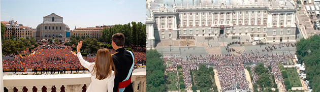 Asistencia a la proclamación de Felipe VI como rey de España